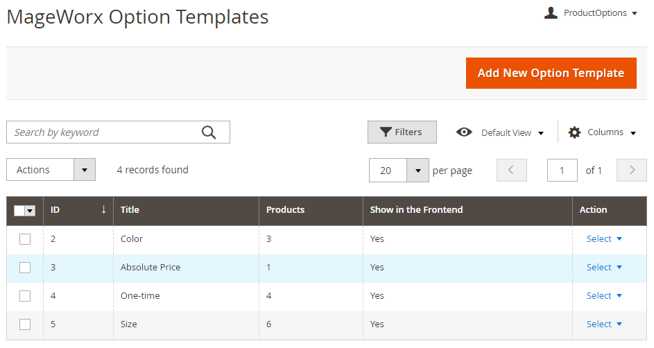 Mageworx Option Templates