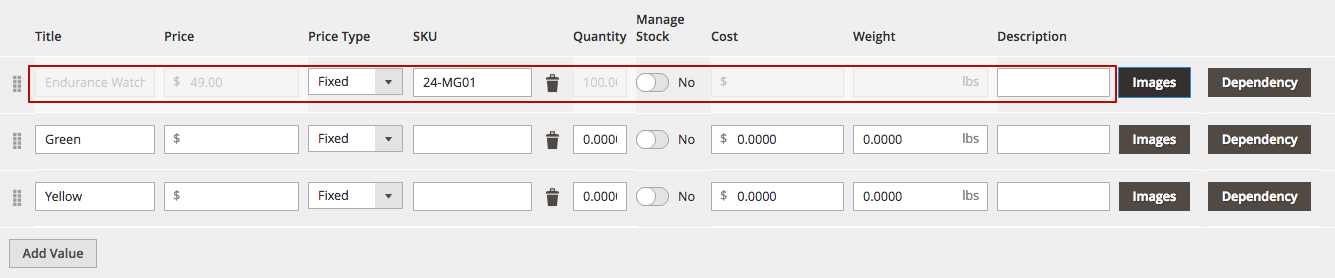 Mageworx Option Template Custom Options
