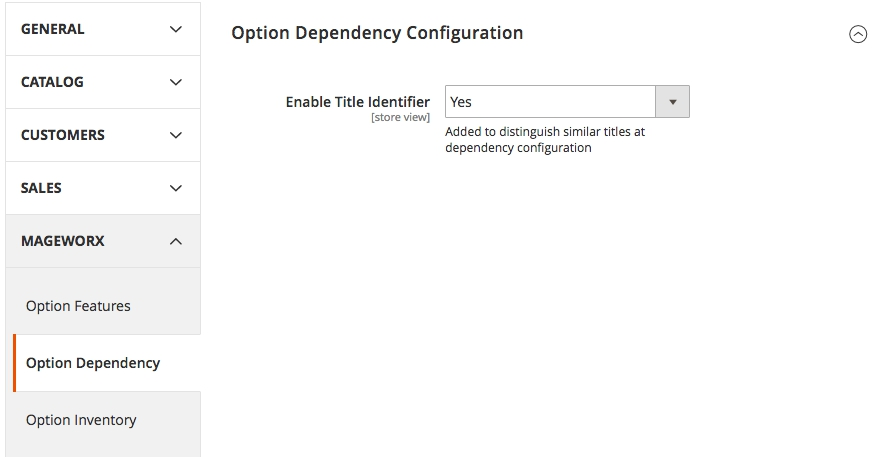 Mageworx Option Template Dependent Options