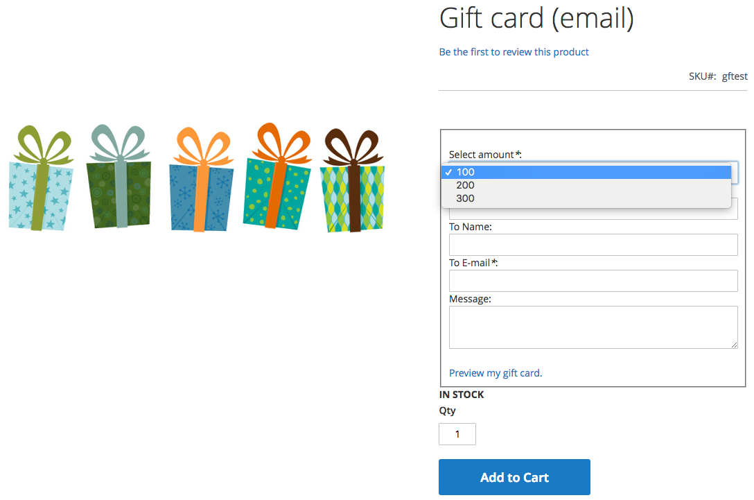 Mageworx Gift Card Values