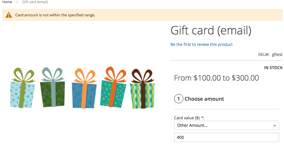 Mageworx Gift Card Types