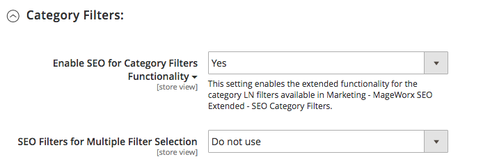 SEO Extended Configuration