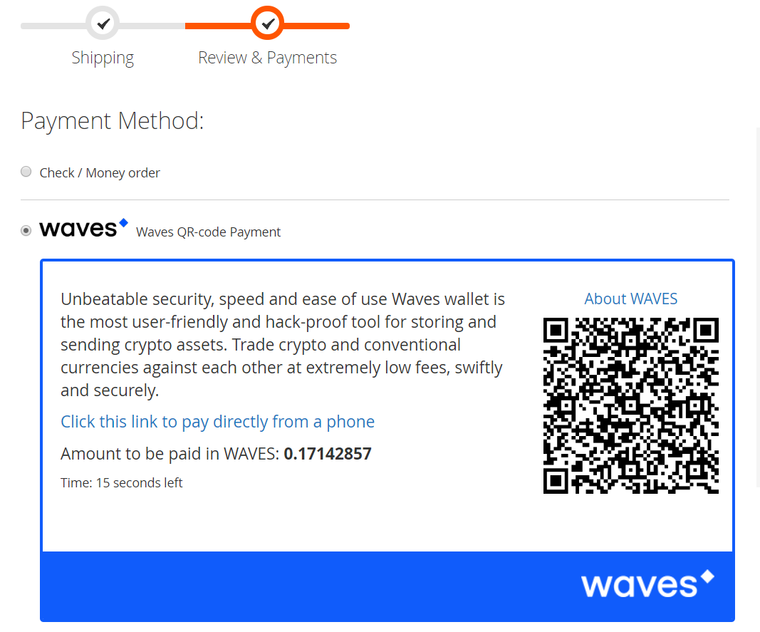 Magento 2 WAVES Crypto Payments Guide - MageWorx